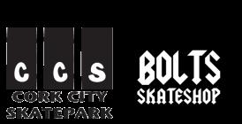 Sponsored By Cork City Skatepark and Bolts Skateshop